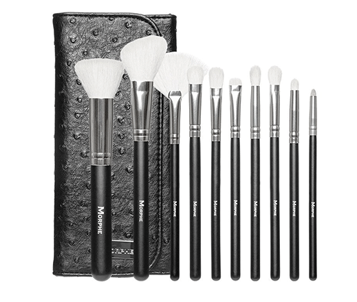 MORPHE-10-PIECE-DELUXE-SET-With-OSTRICH-SKIN-SNAP-CASE