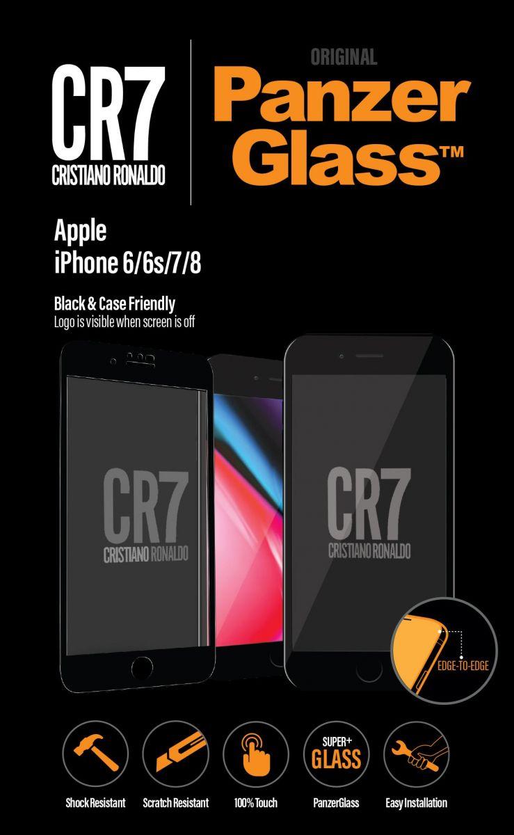 شعار PanzerGlass iPhone 6 / 6S / 7/8 جيت الأسود CR7 (9014)