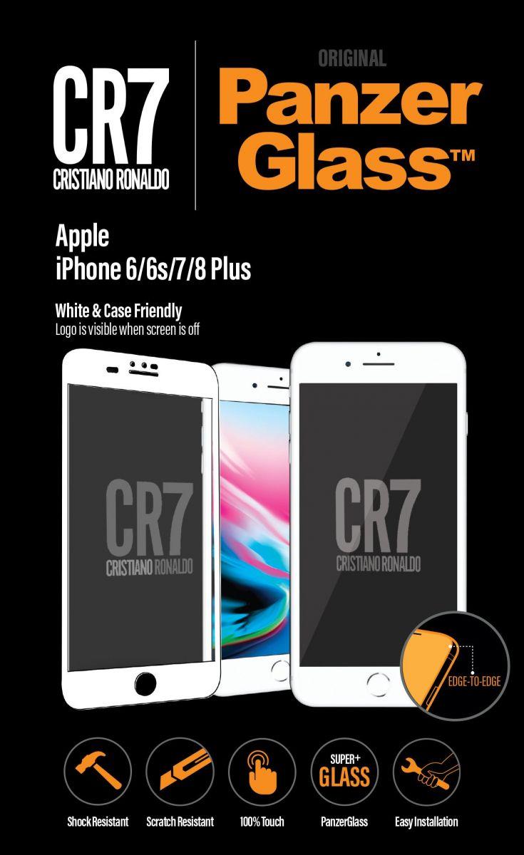 شعار PanzerGlass iPhone 6 / 6S / 7/8 زائد الأبيض CR7 (9017)