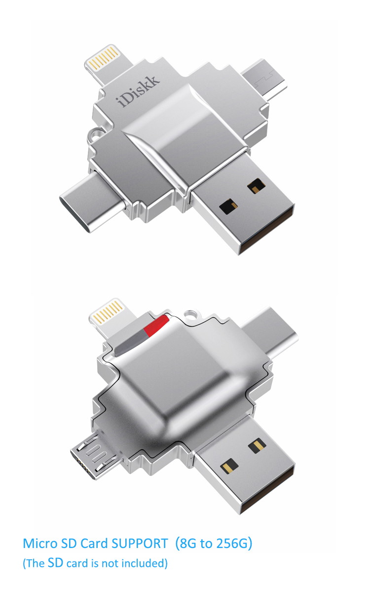 iDiskk 4-in-1 Card Reader