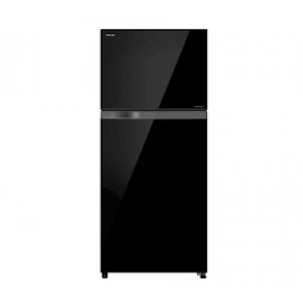 ثلاجة توشيبا بنظام 2 باب إنفيرتر بسعة 14.63 قدم اسود زجاجى