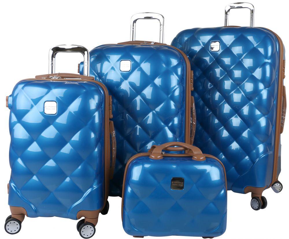 طقم حقائب سفر 4 قطع من جوردانيو- ازرق