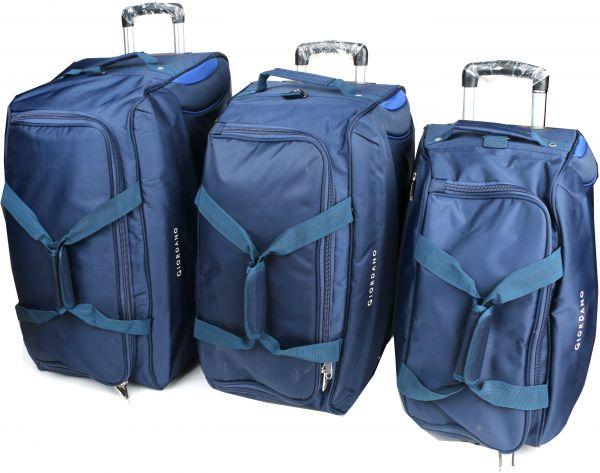 جيوردانو طقم حقائب سفر بعجلات للجنسين, 3 قطع - بوليستر , ازرق