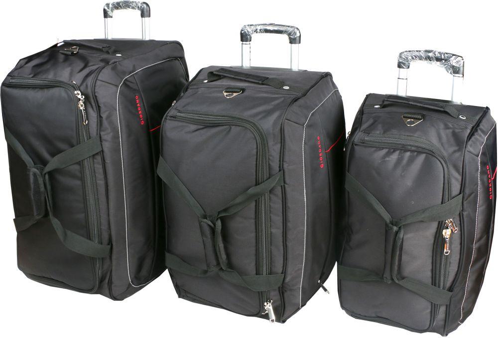 جيوردانو طقم حقائب سفر بعجلات للجنسين, 3 قطع - بوليستر , اسود