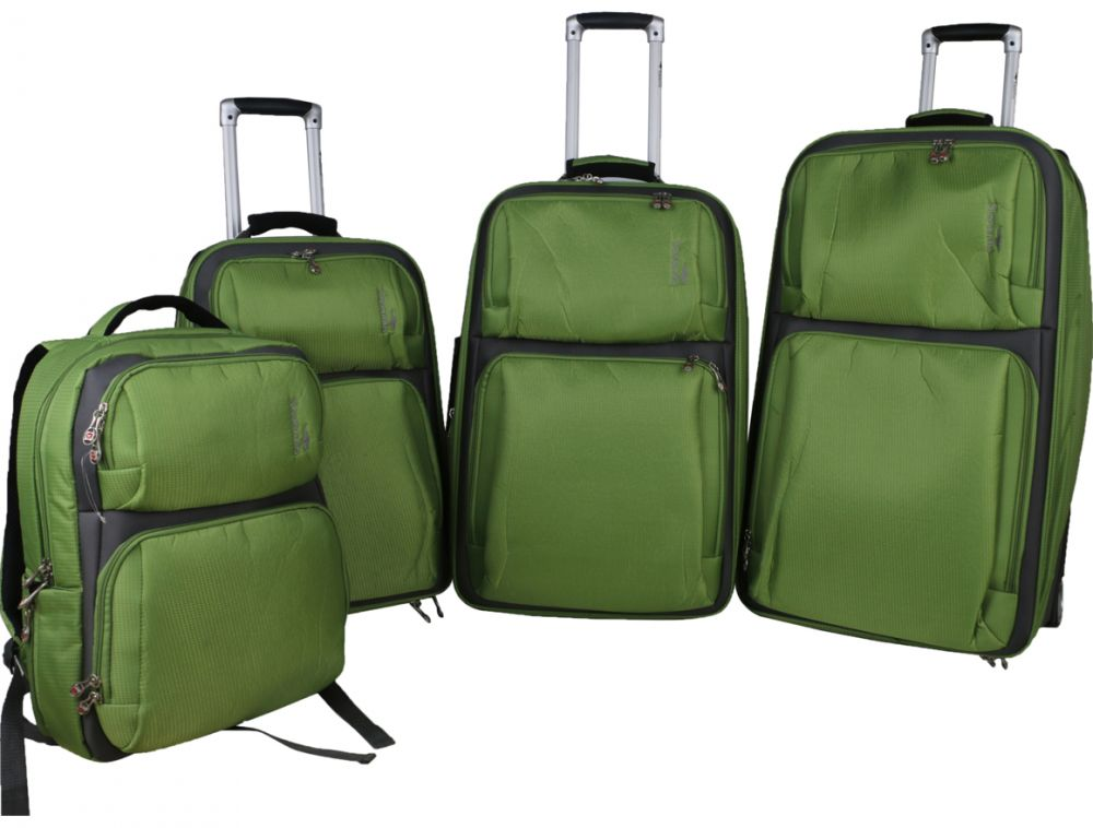 شنط سفر ترولي من سافانا، 4 قطع ، اخضر