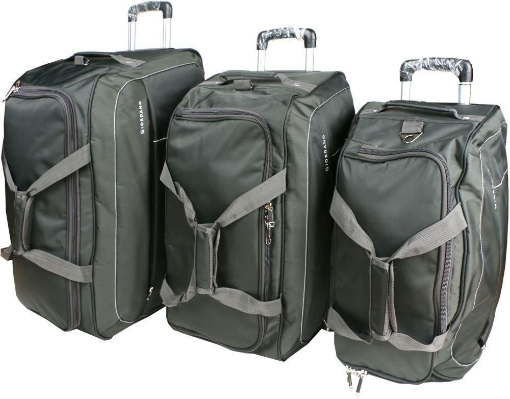 جيوردانو طقم حقائب سفر بعجلات للجنسين, 3 قطع - بوليستر , رمادي