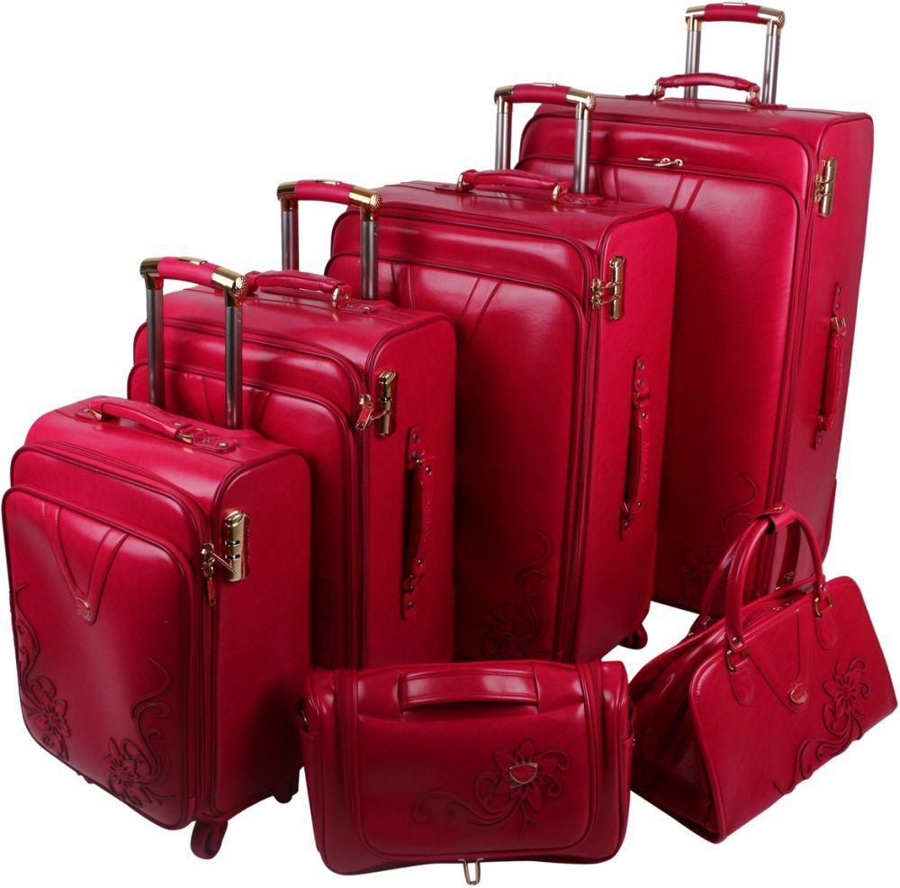 طقم حقائب سفر 6 قطع من سافانا , احمر