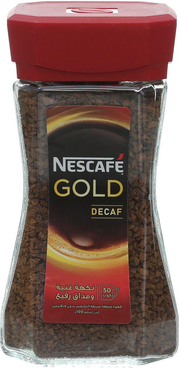 قهوة منزوعة الكافيين من نسكافيه جولد - 100 جم