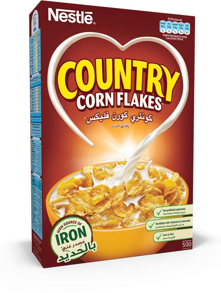 كونتري كورن فليكس رقائق الذرة من نستله 500g