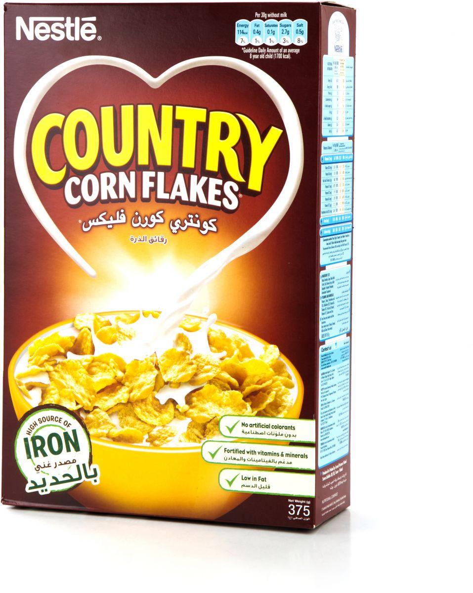 كونتري كورن فليكس رقائق الذرة من نستله 375g