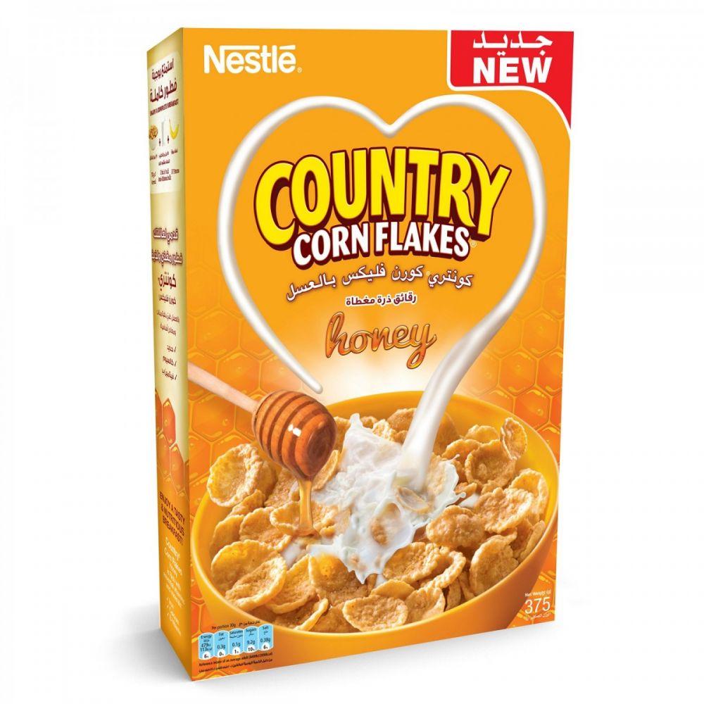 كونتري كورن فليكس رقائق الذرة بطعم العسل من نستله 375g