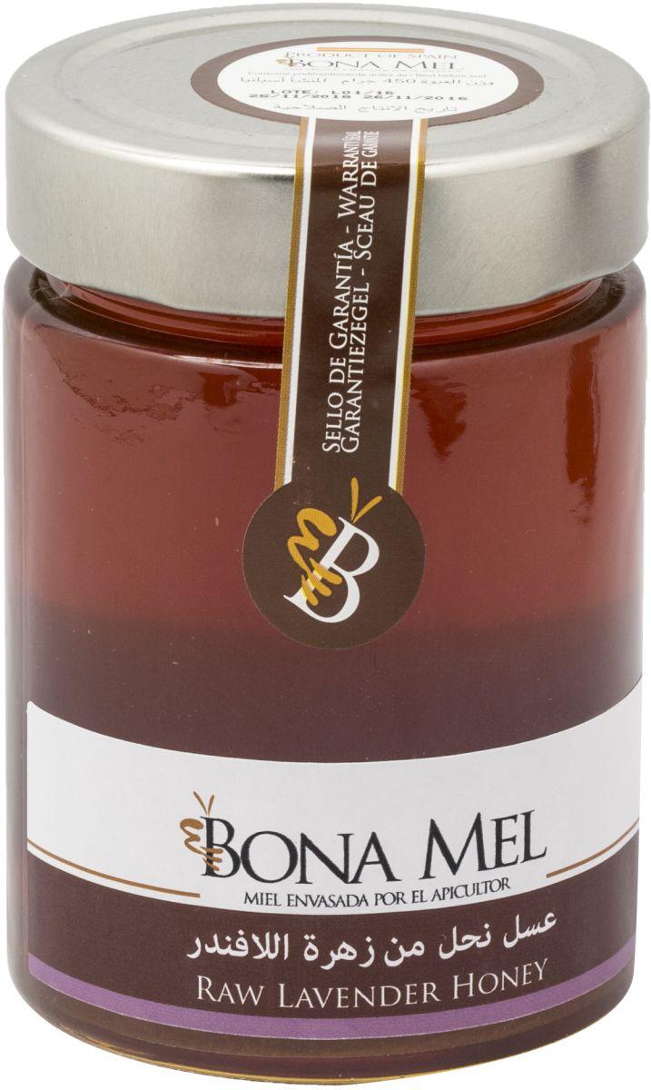 بونا مل عسل نحل من زهرة اللافندر عضوي خام غير معالج - 450 غ