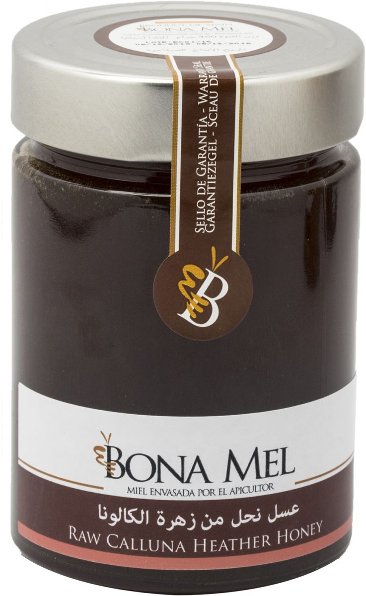 بونا مل عسل نحل من زهرة الكالونا عضوي خام غير معالج - 450 غ