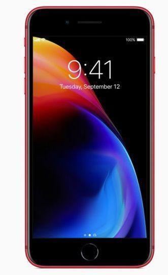 ابل ايفون 8 بدون تطبيق فايس تايم - 64 جيجا, ال تي اي, احمر