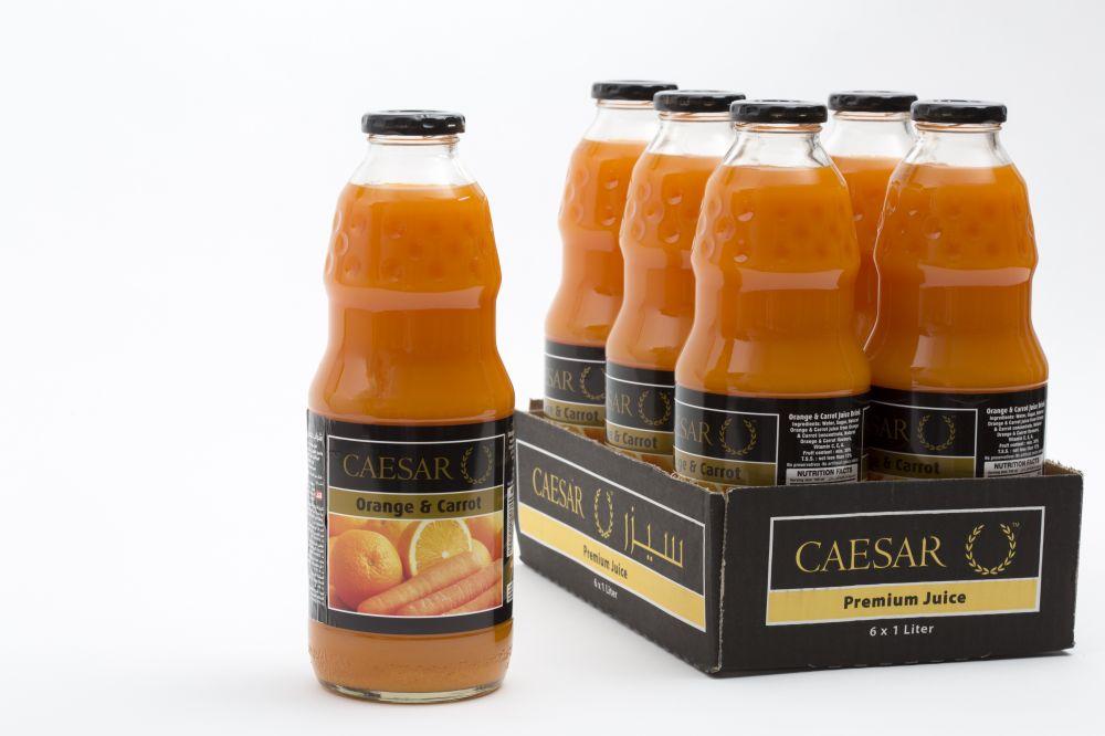 سيزر عصير برتقال و جزر 6 في 1 لتر