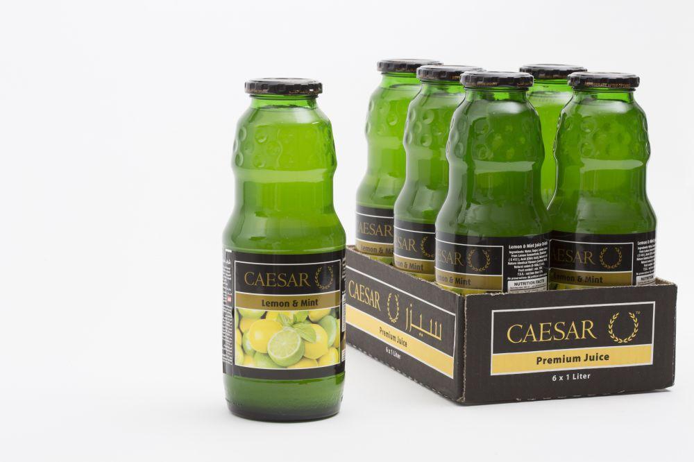 سيزر عصير ليمون ونعناع 6 في 1 لتر