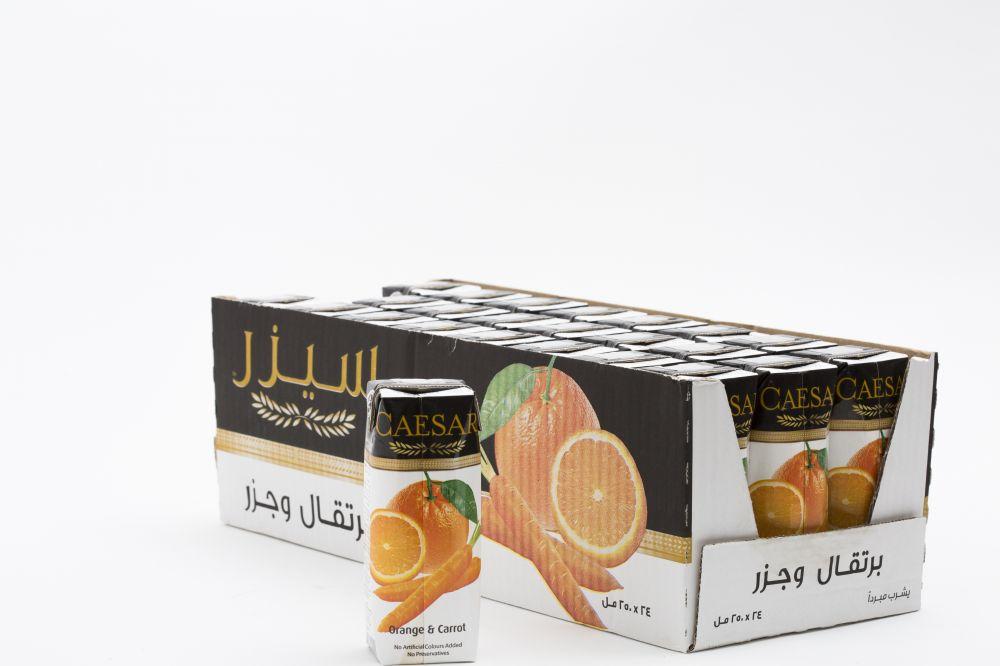 سيزر عصير برتقال و جزر 24 في 250 مل