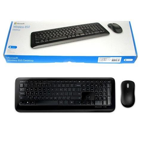 لوحة مفاتيح وماوس لاسلكي 850 من مايكروسوفت، أسود