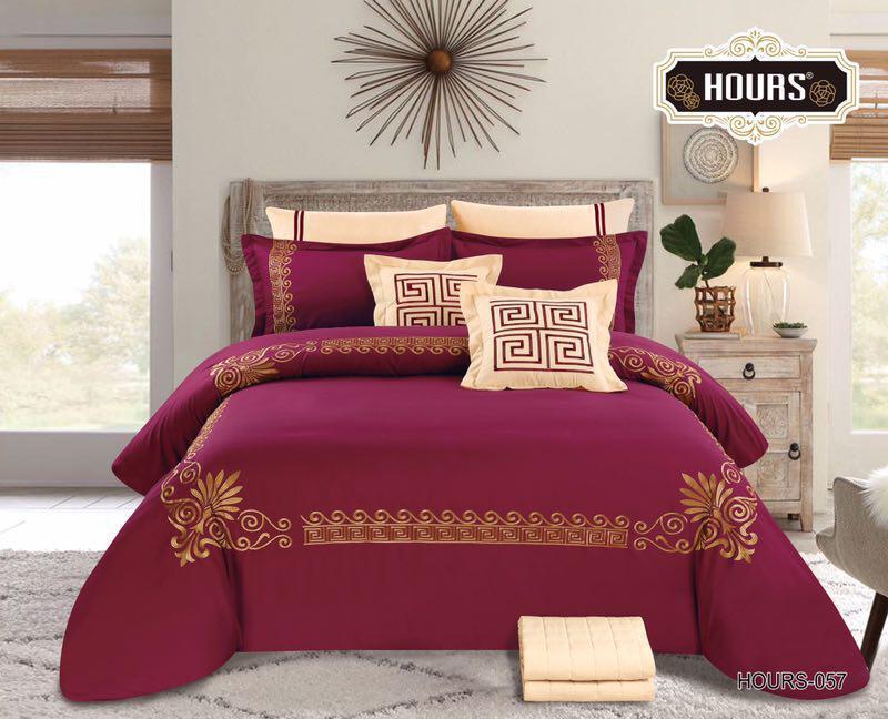 طقم مفرش سرير نظام لحافين   صيفي ، 8 قطع، مقاس مزدوج